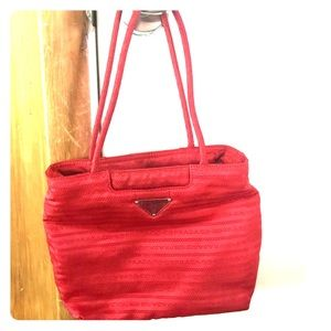 Authentic Prada red small bag